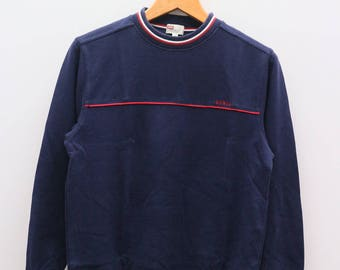 Vintage EDWIN Small Spell Blue Pullover Sweater Sweatshirt Size M