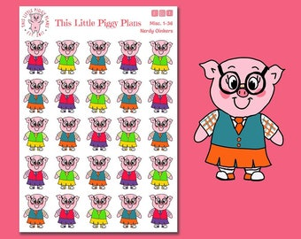 Nerdy Oinkers - Geeking Out Planner Stickers - School Stickers - Nerd Stickers - Pig Stickers - Glasses - Study Stickers - [Misc 1-36]