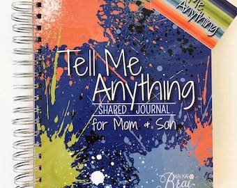 Mom & Son Journal | Tell Me Anything Shared Journal by Kai Kai Brai