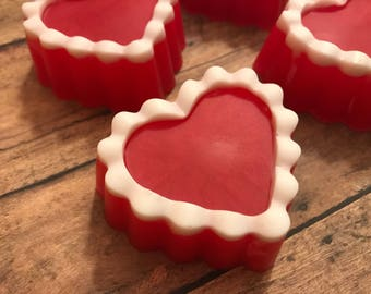 Valentine Soap, Heart Soap, Heart Shaped, Valentine's Day, Party Favor, Love, Gifts For Her, Gifts For Mom, Gifts Under 10, Black Raspberry