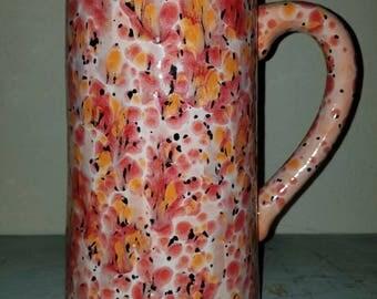 """14"""" poppy fields water pitcher"""