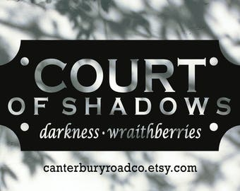Court of Shadows | The Cruel Prince | Book Candle | Soy Candle | Holly Black | Fae Candle | Book Lover Gift | Literary Candle | Faerie