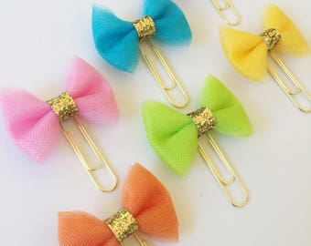 The Tropical Escape Collection - Set of 6 Tulle Planner Bows