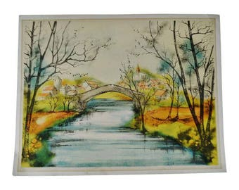 Vintage Limited Edition Signed Canal Scene Print