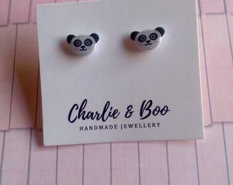 Panda Studs - Panda Earrings - Panda Jewellery - Panda Bear Studs - Panda Bear Earrings - Panda Bear Jewellery - Animal Studs -
