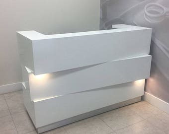 Miami Reception Desk With Built-in LED