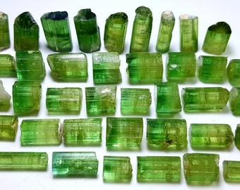 167 Carat Top Class Green Cap Tourmaline Terminated Crystal from Afghanistan