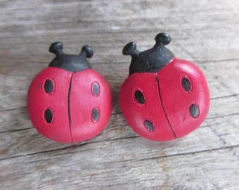 Lady Bug button // Bug buttons // Shank buttons