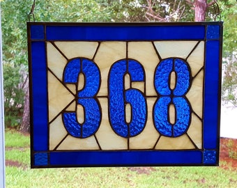 Custom Stained Glass House Numbers