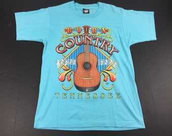 Vintage 90s born country tennessee t-shirt mens m screen stars