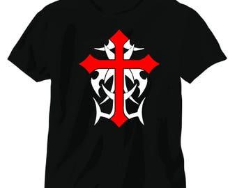 Crusades cross knights templar tee shirt