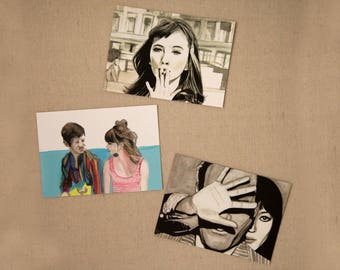 "PACK postcards ""Anna Karina"""