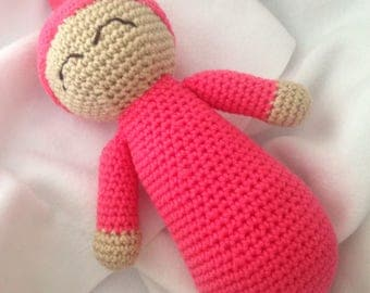 """Happily Sleeping Baby, Baby Doll, 13"""" soft baby doll, toys"""