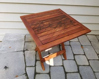 Sand Dunes of the Outer Banks, Acacia Folding Wood Table