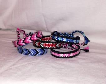 Chevron braided bracelet,Knot bracelet, Handwoven bracelet, String bracelet,Friendship bracelet,Bracelet bresilien,Wrist band,Bohemian style