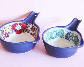 Vintage Figgjo Flint Of Norway Flameware Pans In Designs Maja and Tor Viking