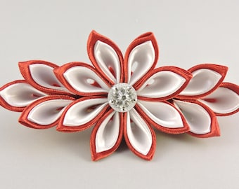 Flower hair barrette. Girls hair barrette. Free shipping