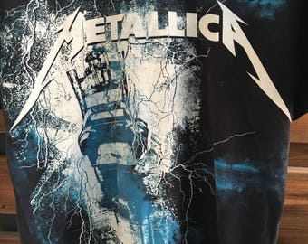 Metallica electric chair vintage band / rock / heavy metal t shirt S-M