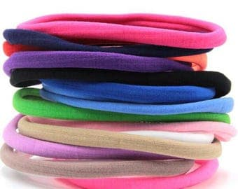 5 Pieces Nylon Headband, 23 Colors to Choose from, Baby and Toddler Nylon Headbands, Soft and Stretchy Elastic, One Size Fit all. PRE-ORDER!
