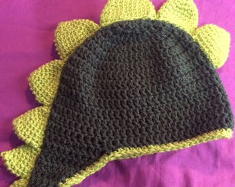 Dinosaur beanie with spikes