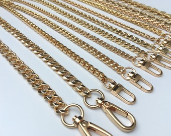 Golden chain strap purse strap bag handbag wallet strap chain links Replacement Chain Strap