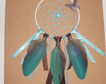 Small dream catcher turquoise and Brown