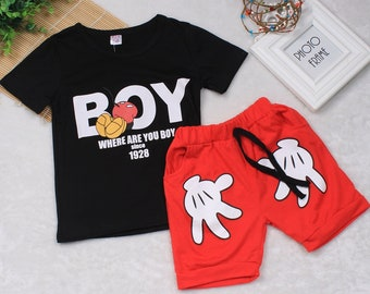 Kids Mickey Sleeve Top and Pant
