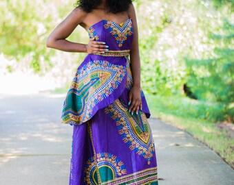Dashiki Prom Dress