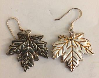 Silver Maple leaf Earrings