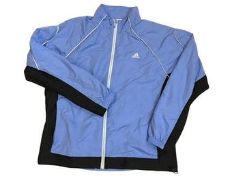 Vintage Adidas - 3M Track Jacket/Breaker - Blue - Womens Large