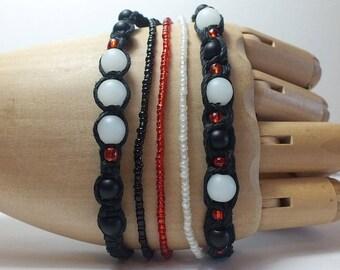 Black Hemp Bracelet Set
