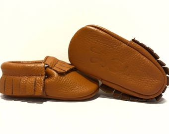 In a Nutshell - Genuine Leather Baby Moccasins