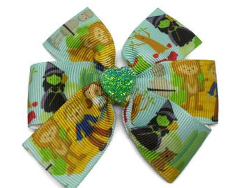 Wizard of Oz Hair Bow ~ Dorothy pinwheel hair clip ~ Wizard of oz hair accessory ~ Wizard of Oz gift ~ Dorothy and the wizard of Oz present