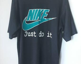 Vintage 90s Nike Just Do It Mesh T-shirt