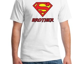 Superbrother t-shirt-Super brother tee-brother t-shirt-men's t-shirt-gift t-shirt-brother shirt-best brother  t-shirt-suprhero brother shirt