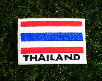 Thailand flag embroidered iron on patch.