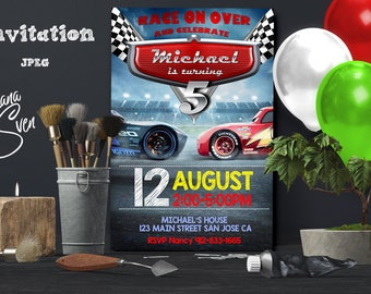Cars Invitation, Disney Cars Birthday Invitation. Disney Cars Invitation. Cars 3, Personalized, Printable, Digital File