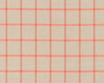 Fabric-Yarn Dye Plaid Broadcloth in Twig/Coral - Cloud9 Fabrics