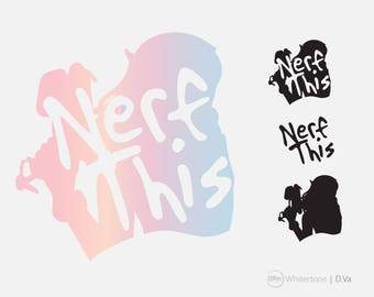 D.va Overwatch ultimate nerf this clipart cute vector graphics,digital images,digital clip art,svg, eps, png decal