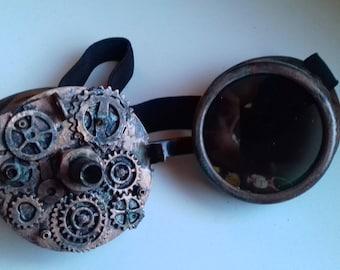 Gears steampunk goggles