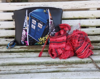 Dr. Who small clutch wristlet or project bag