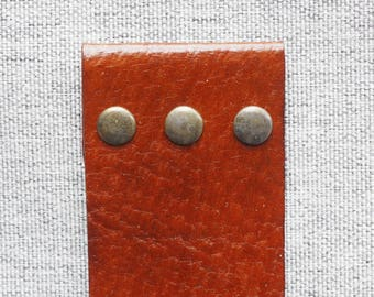 Monstera Leather Bookmark - Brown