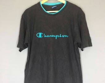 Vintage ChampionTee Spell Out T Shirt Size Medium
