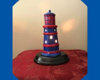 Ceramic lighthouse light. Lighthouse. Home decor