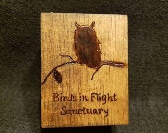 Birds in Flight Sanctuary Wooden Jewelry (etc.) Box