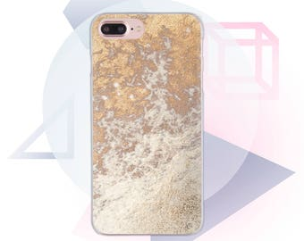 Golden iPhone 7 Plus Case Clear 6s iPhone Case Clear iPhone 6 Case Gold 7 iPhone Case iPhone SE Clear Case White iPhone 5 Case Phone MC1067