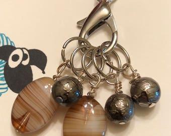 Stitch Marker Necklace, stitch markers, knitting markers, crochet markers, knitting necklace
