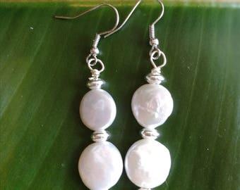 Freshwater Pearl Drop Earrings Anniversary Birthday Wedding Earrings