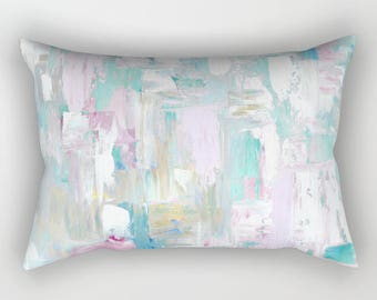 Lumbar Pillow, Abstract Pillow with insert, free shipping!