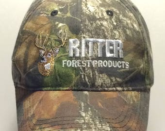 Vintage Hunting Hats Ritter Forest Products Embroidered Deer Head Camo/Camouflage Hat Baseball Cap Mens Hats Dad Ball Caps T58 JL7159